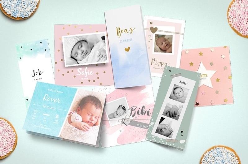 Gratis proefdruk van jouw geboortekaartje bij Kaartje2go